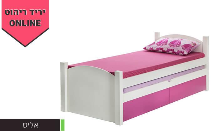 4 מיטת ילדים ונוער דגם אליס עם מיטת חבר