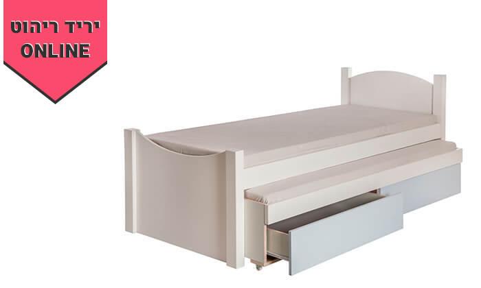 6 מיטת ילדים ונוער דגם אליס עם מיטת חבר