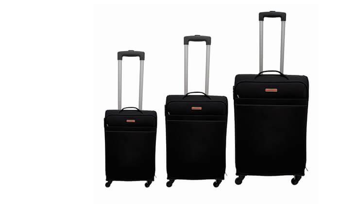 2 שלוש מזוודות בד