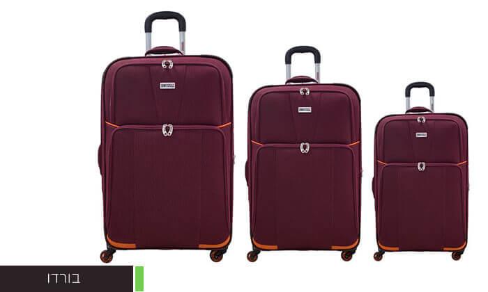 3 סט 3 מזוודות בדSWISS