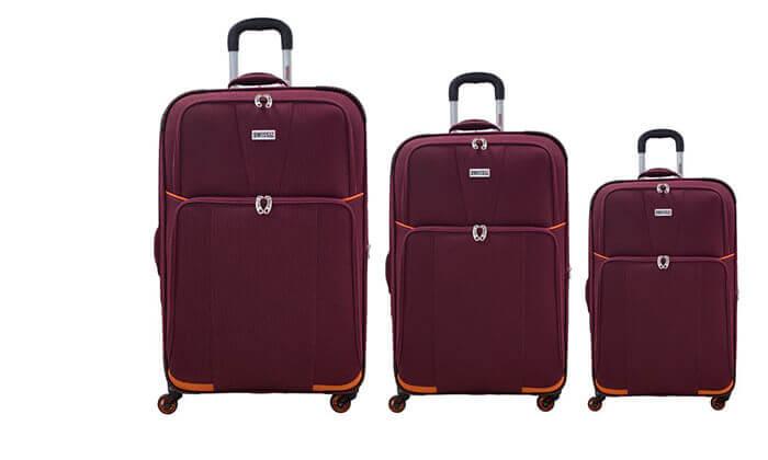 6 סט 3 מזוודות בדSWISS
