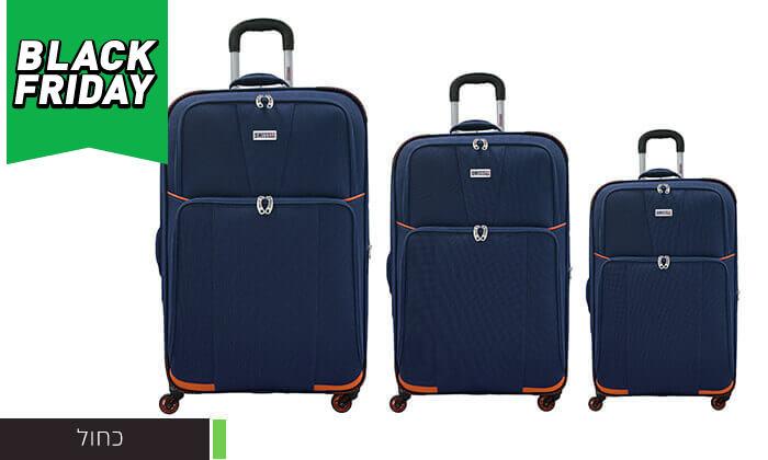 5 סט 3 מזוודות בדSWISS
