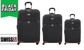 סט 3 מזוודות בד SWISS
