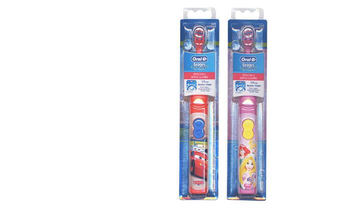 2 זוג מברשות שיניים חשמליות לילדים Oral-B - משלוח חינם