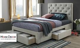 מיטה זוגית מרופדת דגם טופז