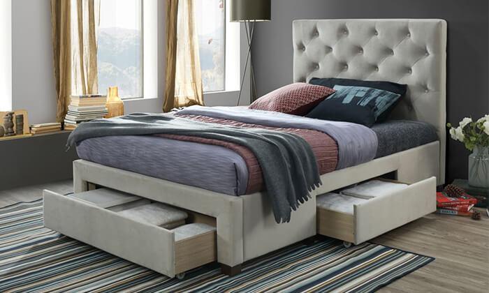 3 מיטה מרופדת ברוחב וחציהום דקור HOME DECOR
