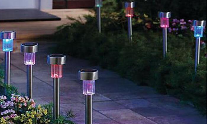 8 דוקרני תאורה סולארית לגינה HOMAX- משלוח חינם