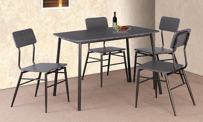 4 שולחן פינת אוכל עם 4 כיסאות