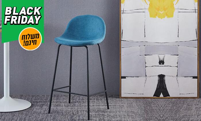 8 כסא בר מרופד - משלוח חינם