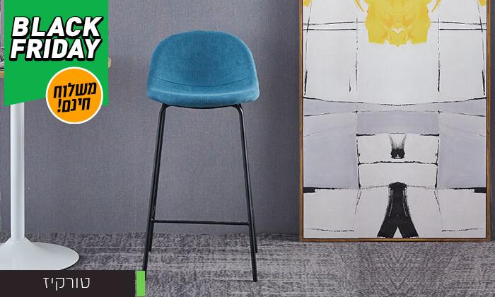 5 כסא בר מרופד - משלוח חינם