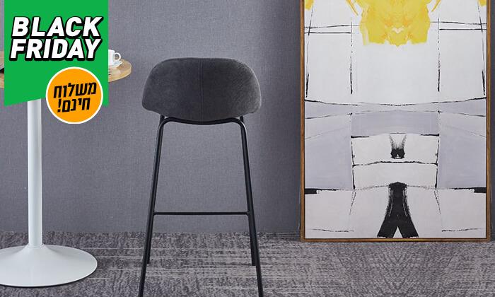 7 כסא בר מרופד - משלוח חינם