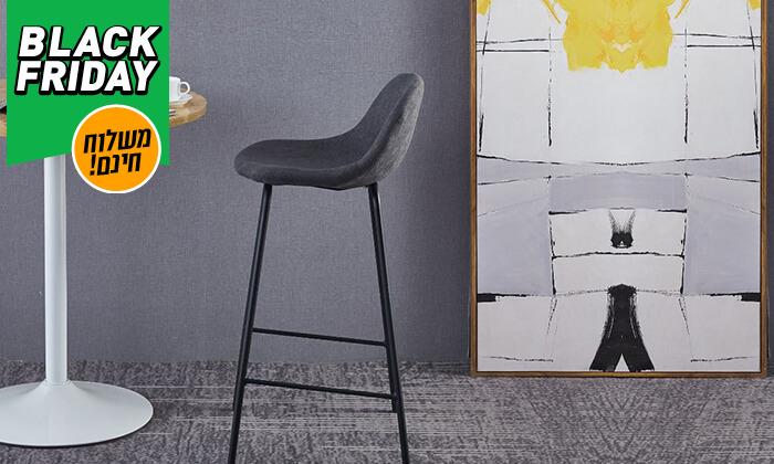 6 כסא בר מרופד - משלוח חינם