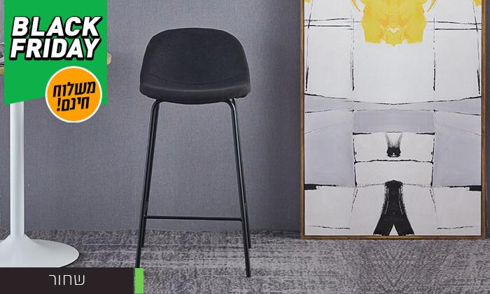 4 כסא בר מרופד - משלוח חינם