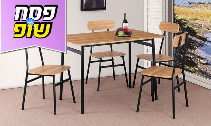 4 פינת אוכל עם ארבעה כיסאות