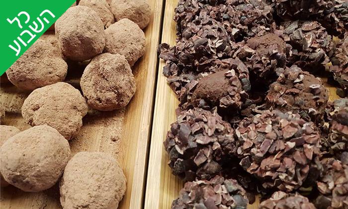 4 מארז פרלינים ואייס קקאו, COCO - Vegan Chocolate & Cacao Temple בפלורנטין