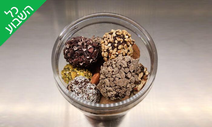 6 מארז פרלינים ואייס קקאו, COCO - Vegan Chocolate & Cacao Temple בפלורנטין