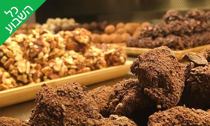 8 מארז פרלינים ואייס קקאו, COCO - Vegan Chocolate & Cacao Temple בפלורנטין