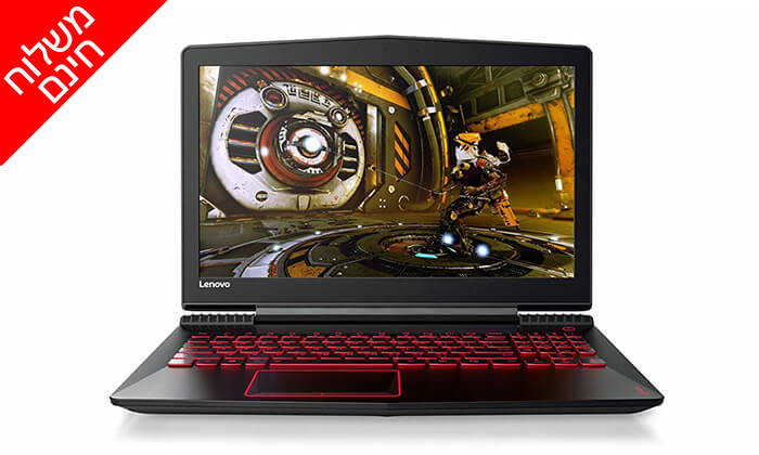 """9 מחשב נייד לנובו Lenovo, עם מסך """"15.6 וכ. גרפי GeForce GTX 1060 - משלוח חינם"""