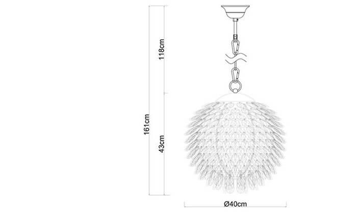 4 ביתילי: מנורת תלייה דגם שיסל גדול