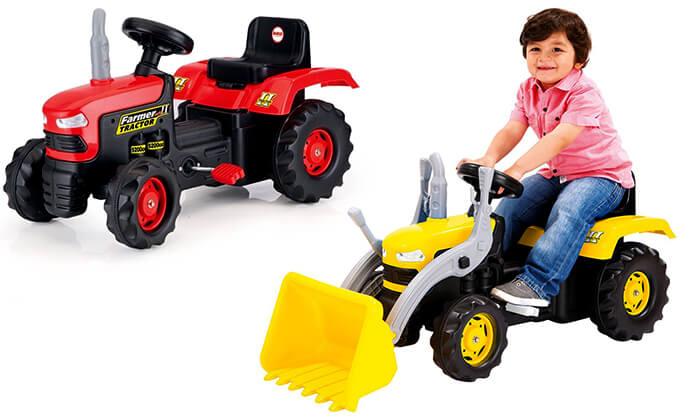 2 כלי רכב לילדים מגיל 3
