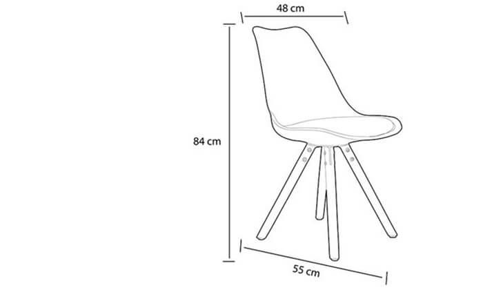 4 כיסא פינת אוכל BRADEX