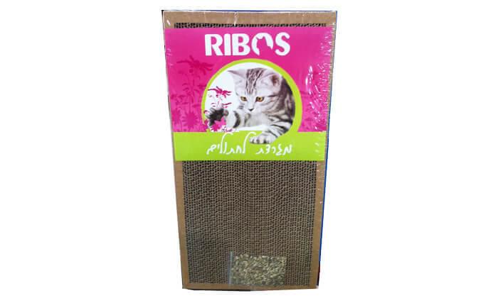 3  מגרדות קרטון לחתול עם צמח הקטניפ