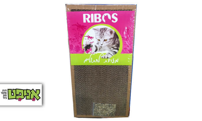2  מגרדות קרטון לחתול עם צמח הקטניפ
