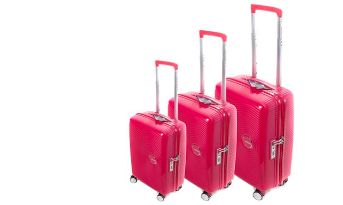 5 מזוודה קשיחה American Tourister מבית SAMSONITE