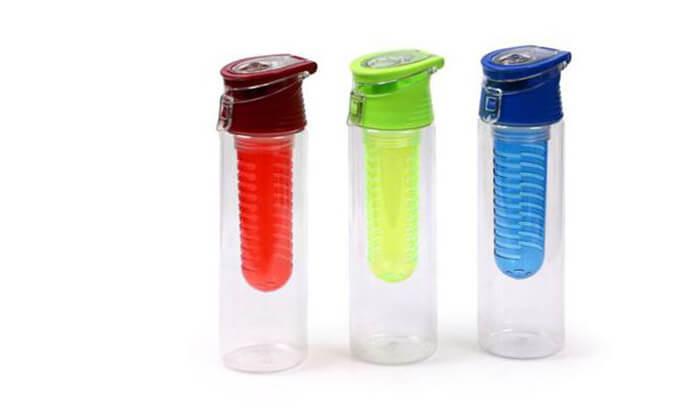 2 בקבוק ספורט עם תא לחליטה