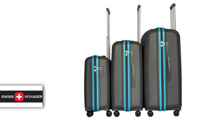 2 סט 3 מזוודות ענקיות SWISS VOYAGER