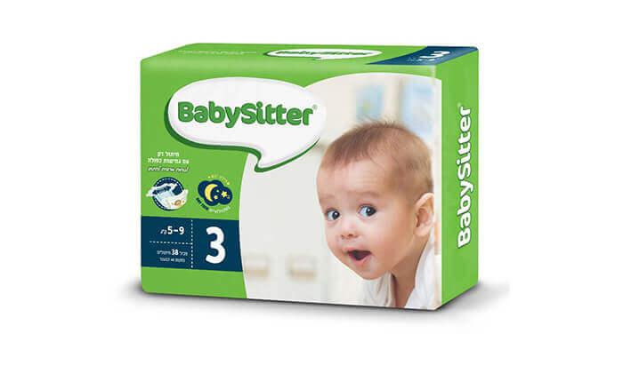 4 מארז 8 חבילות חיתולי בייביסיטר Babysitter