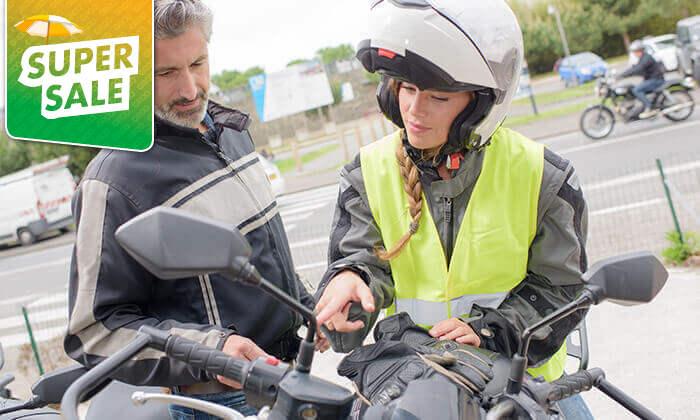 2 שיעורי נהיגה וטסט על קטנוע - גלעד בית ספר לנהיגה, גני יהושע