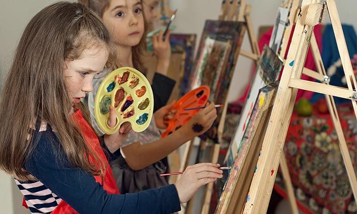 2 חוג ציור חודשי לילדים בסטודיו לציור, נס ציונה