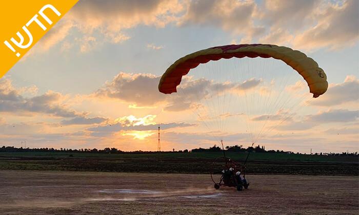 4 חוויית טיסה בטרקטורון מעופף עם דביר מצנחי רחיפה, לב השרון