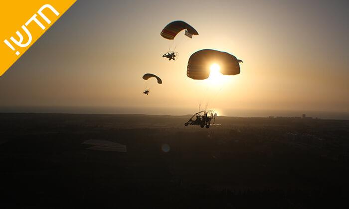 10 חוויית טיסה בטרקטורון מעופף עם דביר מצנחי רחיפה, לב השרון