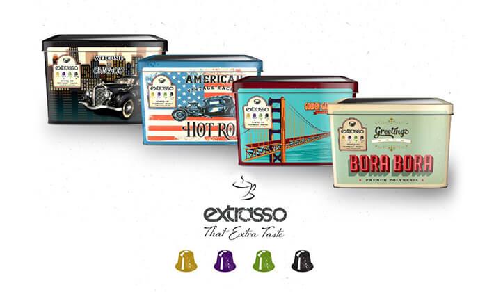 2 100 קפסולות קפה Extrasso