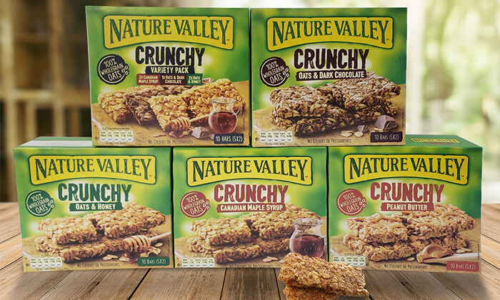 2 10 מארזים של חטיפי גרנולה NATURE VALLEY