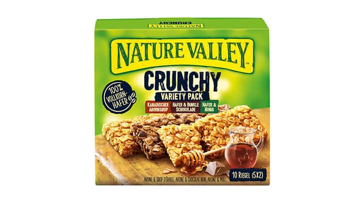 4 10 מארזים של חטיפי גרנולה NATURE VALLEY
