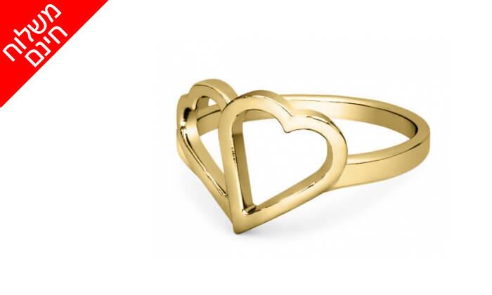 7 טבעת לבבות זהב 14K של GOLDIAM - משלוח חינם