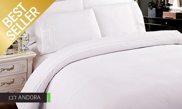 5 סט מצעים משולב תחרה למיטת יחיד או זוגית במבחר צבעים