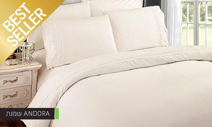 7 סט מצעים משולב תחרה למיטת יחיד או זוגית במבחר צבעים