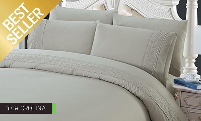 8 סט מצעים משולב תחרה למיטת יחיד או זוגית במבחר צבעים