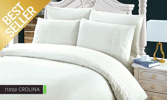 9 סט מצעים משולב תחרה למיטת יחיד או זוגית במבחר צבעים