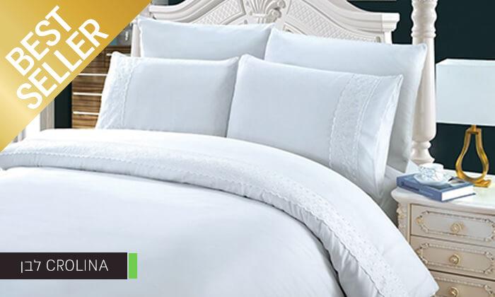 10 סט מצעים משולב תחרה למיטת יחיד או זוגית במבחר צבעים