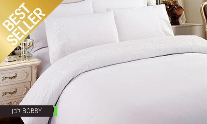 11 סט מצעים משולב תחרה למיטת יחיד או זוגית במבחר צבעים