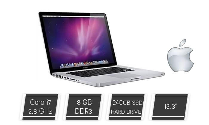 2 מחשב נייד אפל Apple עם מסך 13.3 אינץ'