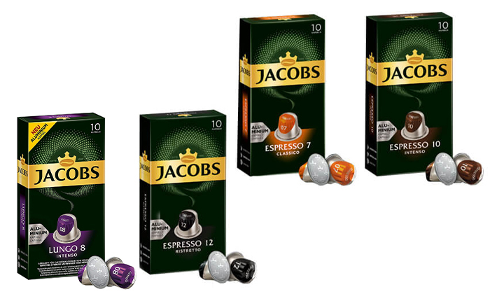 7 100/200/300 קפסולות קפה של ג'ייקובס