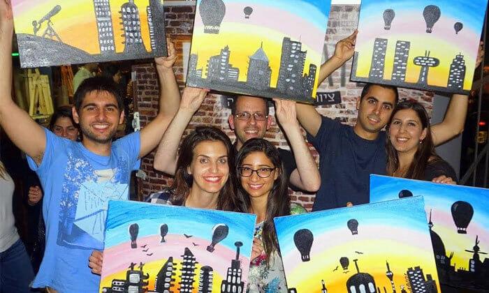 6 כניסה לפיינט דייט Paint Date, תל אביב