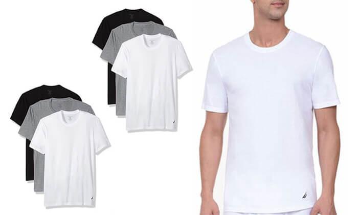 2 מארז 6 חולצות טי-שרט נאוטיקה לגבר