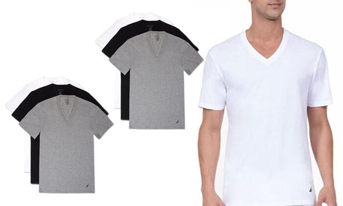 2 מארז 6 חולצות נאוטיקה לגבר- צווארון וי